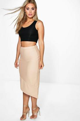 Plus Katey Asymmetric Skirt