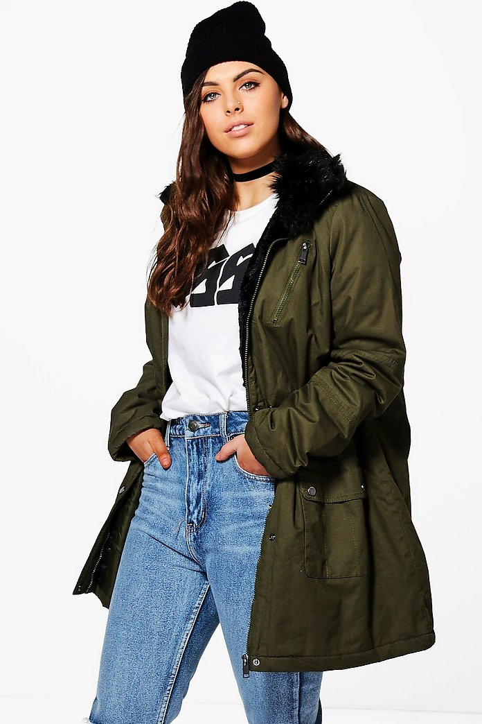 Plus Izzy Faux Fur Detail Parka