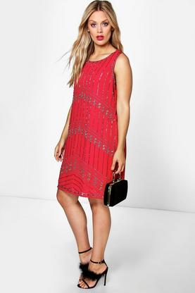 Plus Chelsea Sequin Shift Dress