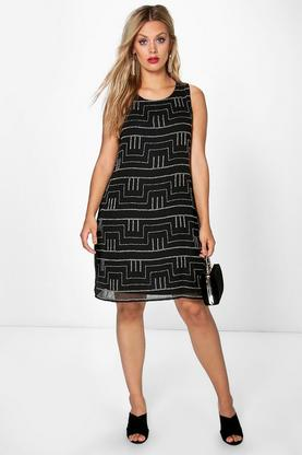 Plus Maria Sequin Shift Dress