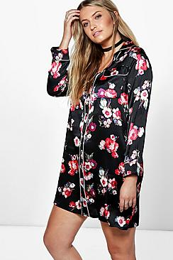 Plus Jessie Floral Woven Pyjama Dress