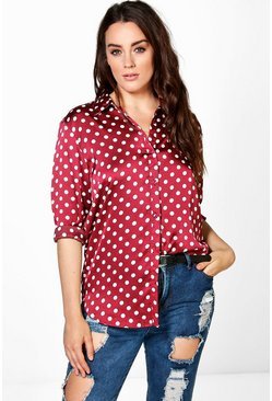 Plus Laurie Spot Print Shirt