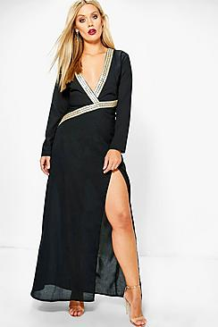 Plus Evie Trim Detail Maxi Dress