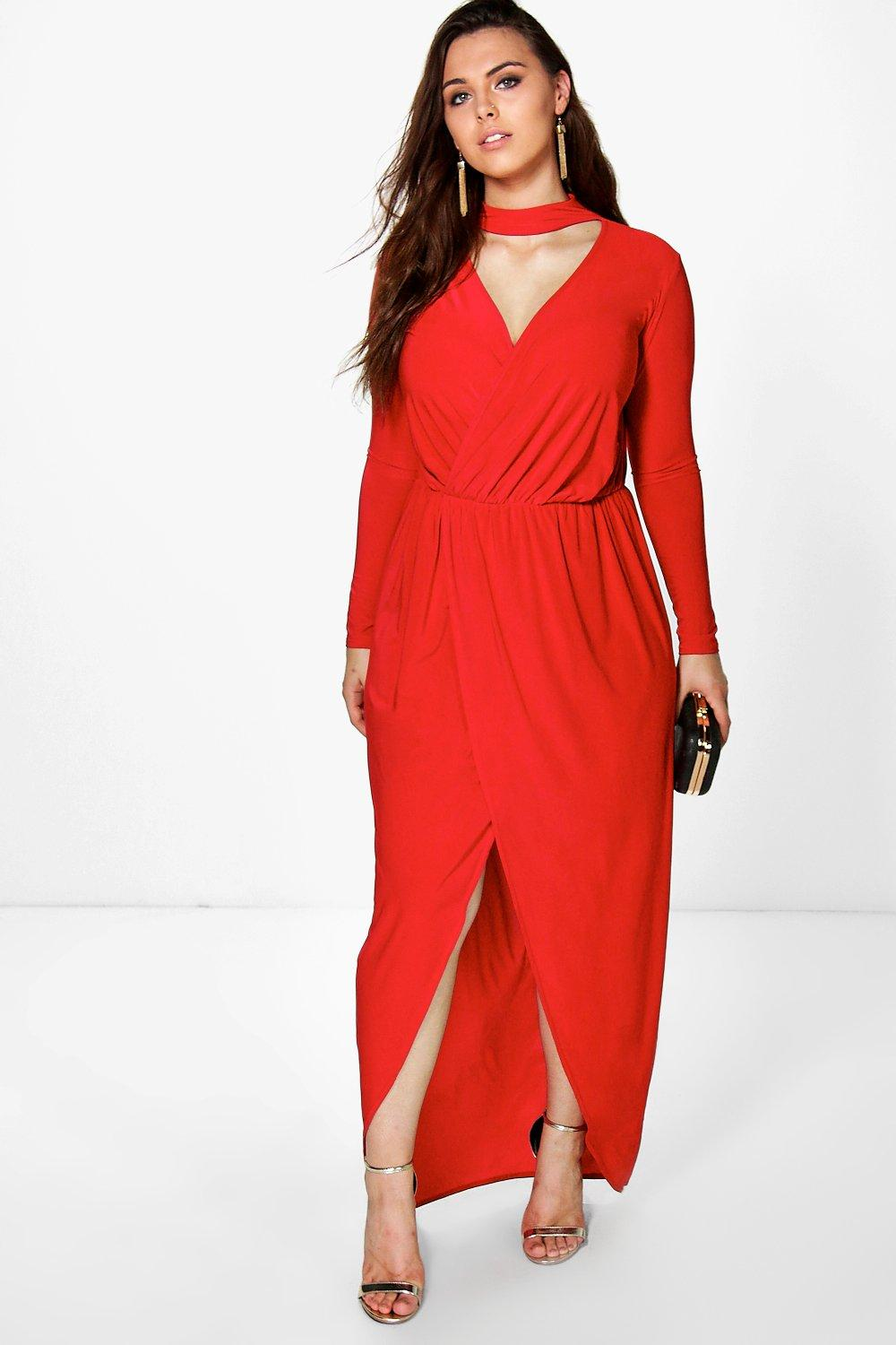 Plus Eileen Detail Maxi Dress