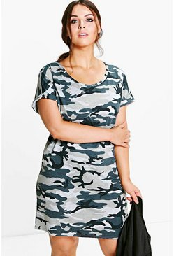 Plus Naomi Camo Shift Dress