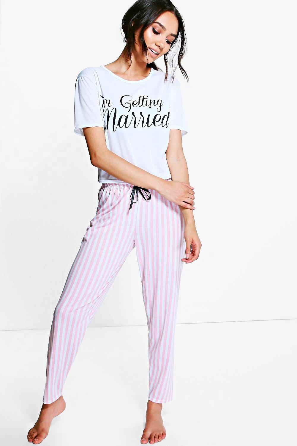 Petite Getting Married Trouser Pyjama Set