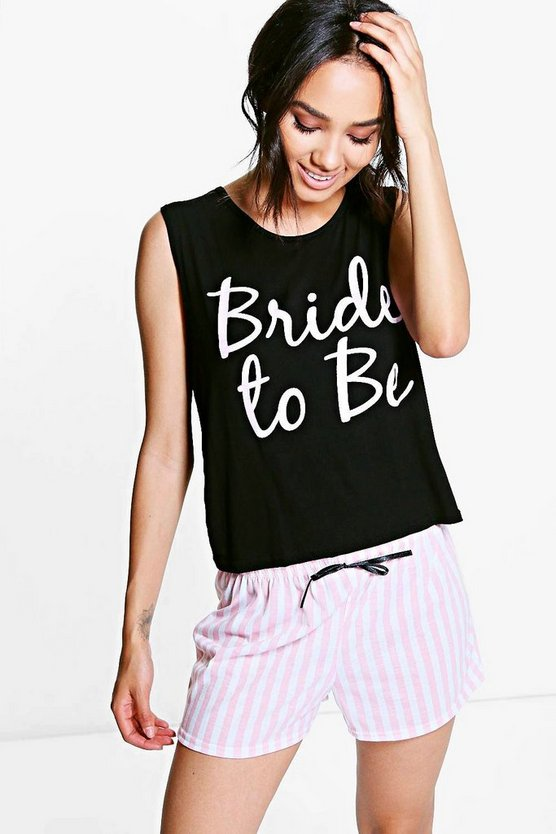 Petite Bride To Be Pyjama Short Set