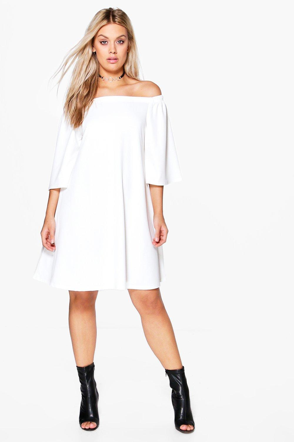 Plus Nina Off Shoulder Swing Dress