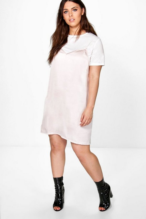 Plus Holly 2 in 1 T-shirt Slip Dress