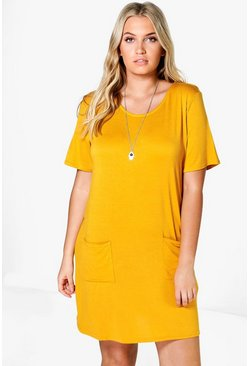 Plus Kirsten Pocket detail Shift Dress