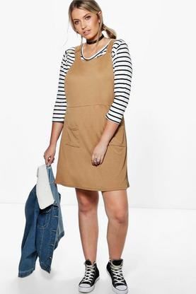 Plus Mia Pinafore Dress
