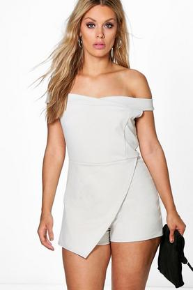 Plus Amy Bandeau Skort Playsuit