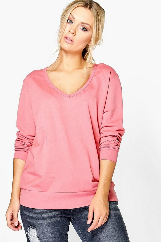 Plus Jodie V Neck Sweat