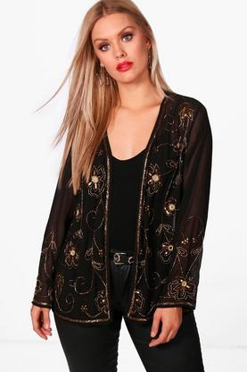Plus Megan Embellished Jacket