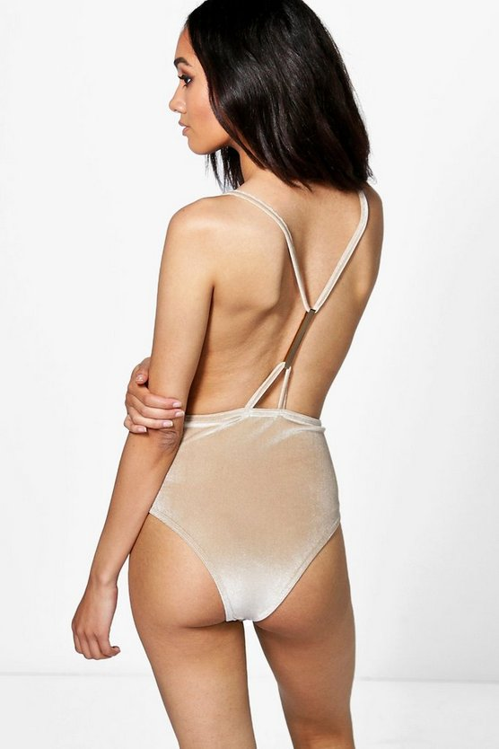 Petite Zoe Velvet Strappy Back Body