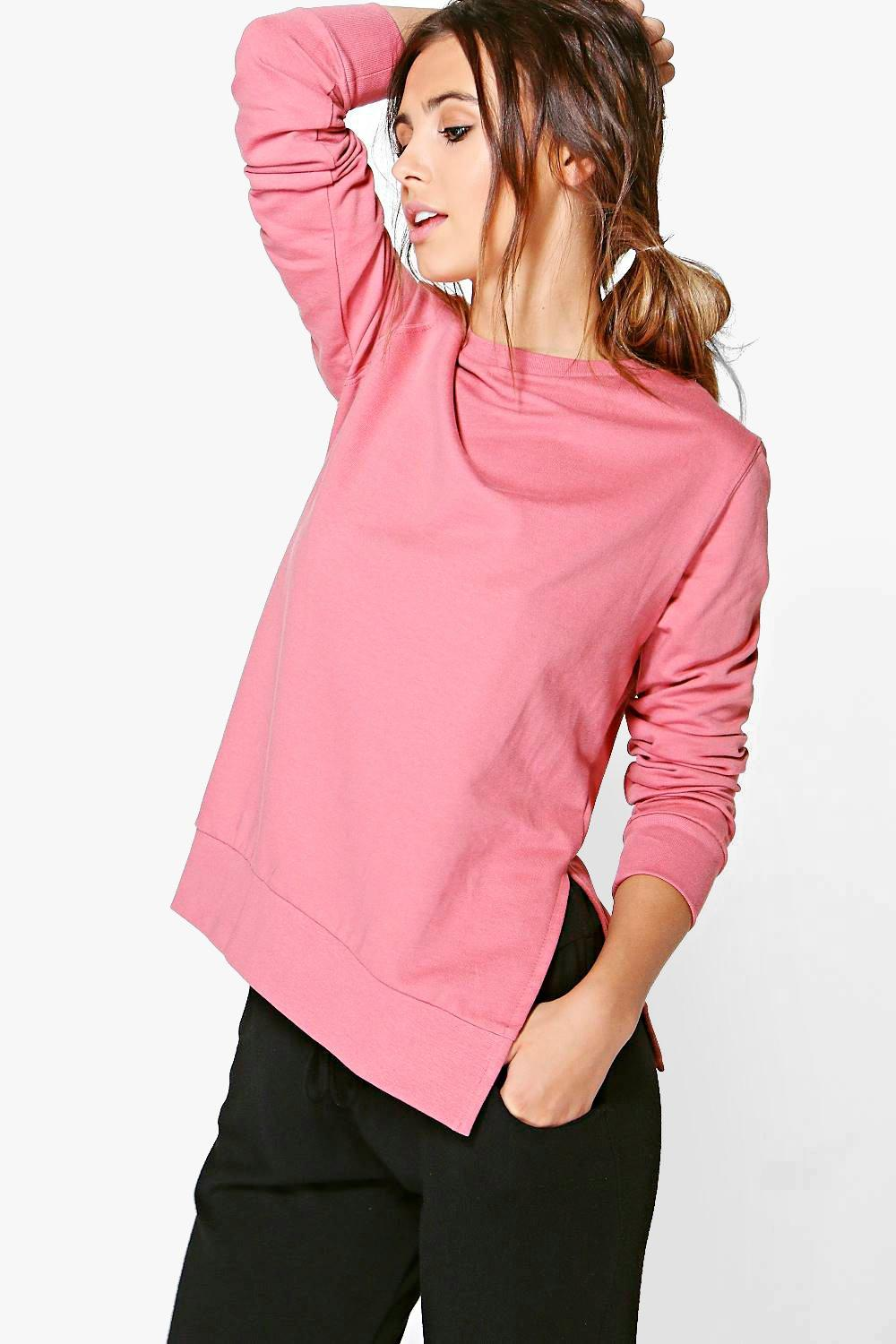 Petite Leila Split Side Crew Neck Sweat