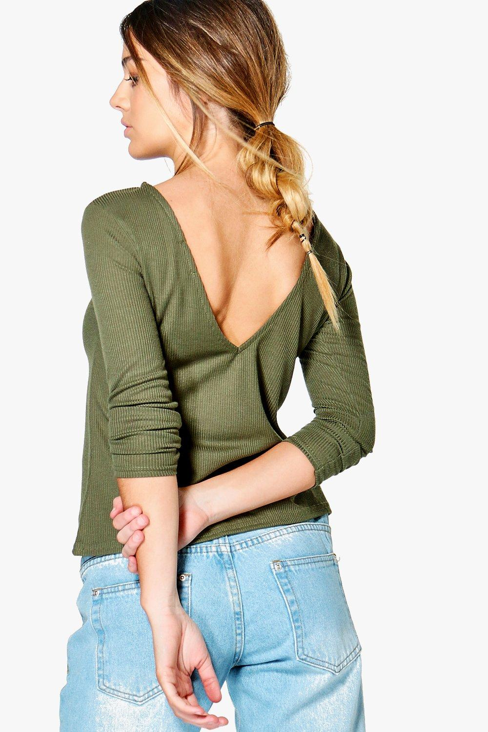 Petite Lisa V Back Top