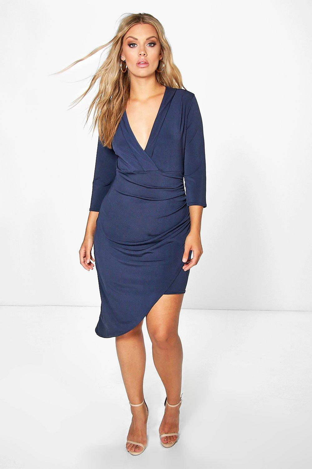 Plus Haley Wrap Front Dress