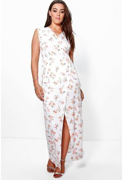 Plus Jules Floral Wrap Maxi Dress
