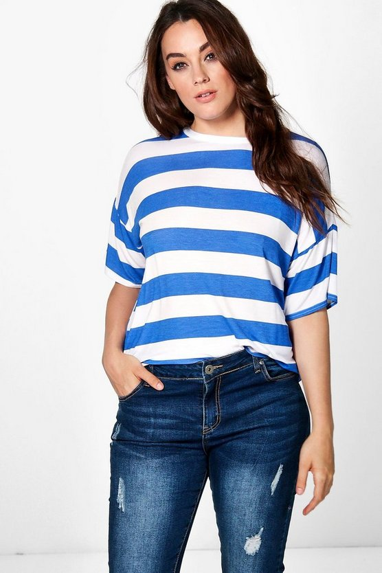 Plus Kady Stripe Print Tee