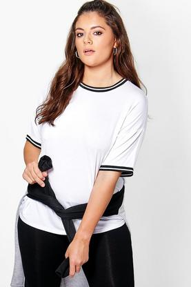 Plus Kara Rib Detail Tee