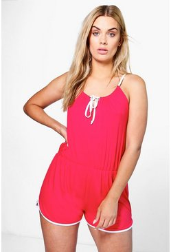 Plus Shauna Sport Binding Playsuit