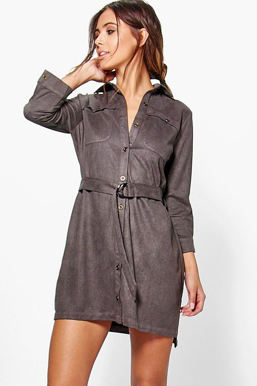 Original Metaphor Women39s Belted Shirt Dress  Sears