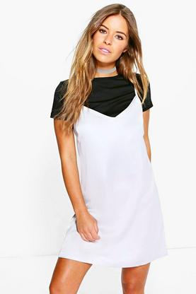 Petite Penelope 2 in 1 Satin Slip Dress