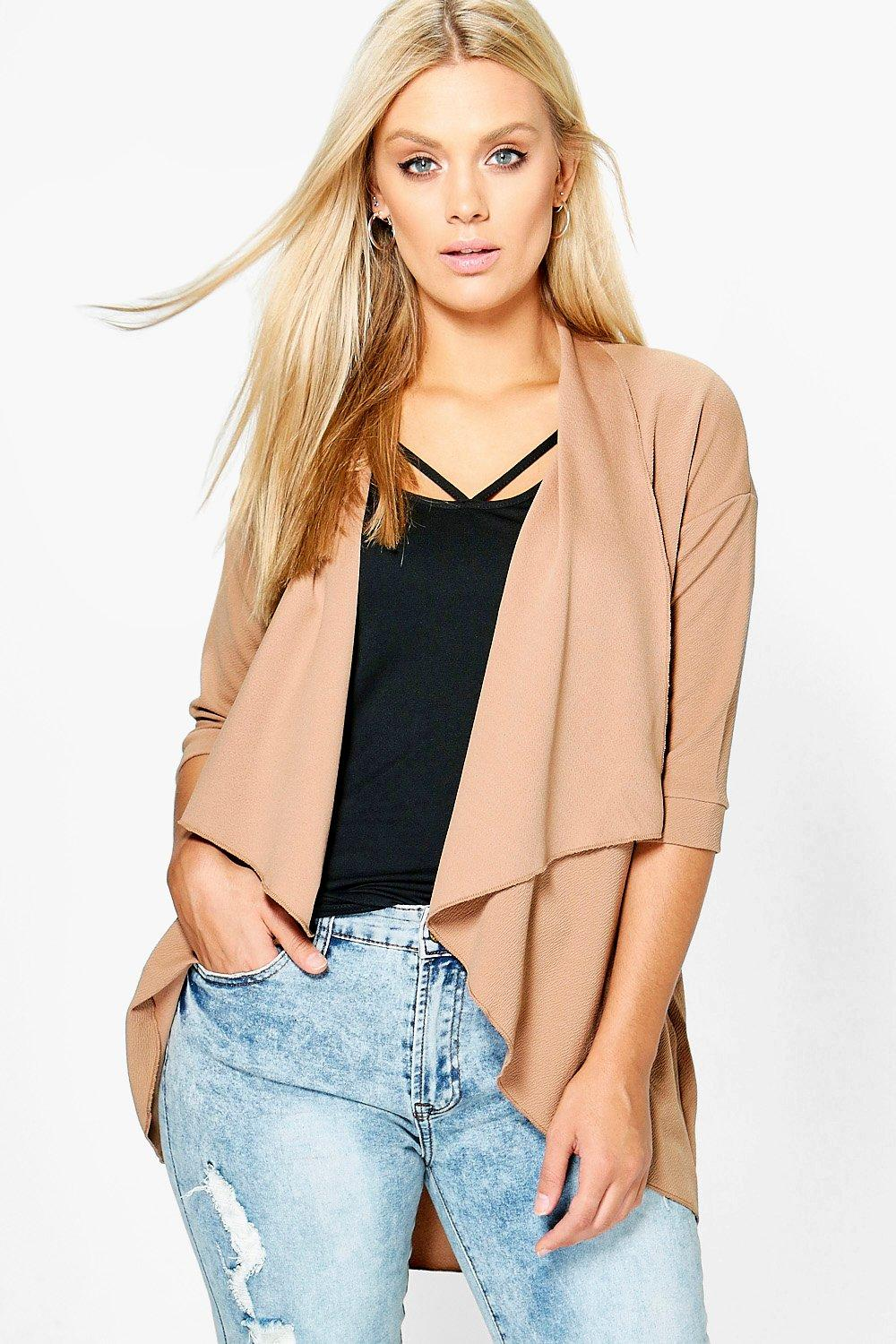 Plus Jules Crepe Waterfall Jacket