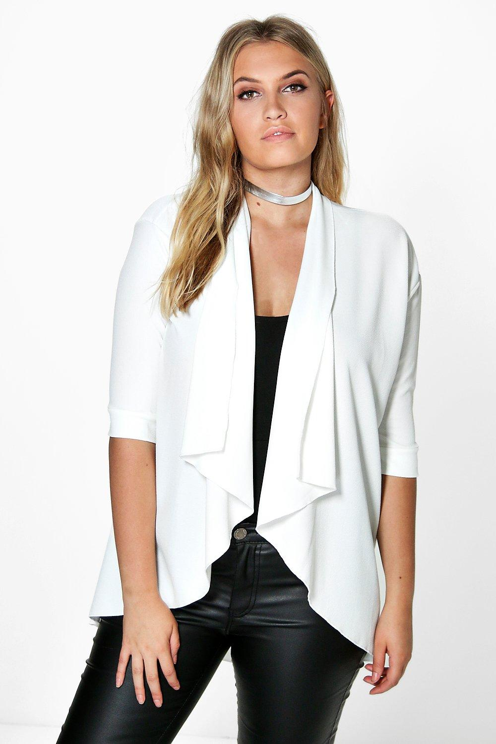 Plus Nicole Waterfall Blazer
