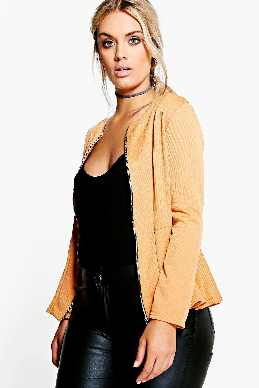 Plus Teresa Zip Peplum Jacket