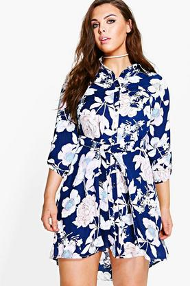 Plus Kim Floral Shirt Dress