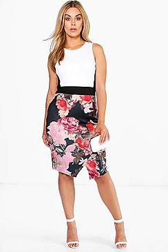 Plus Julia Floral Midi Dress