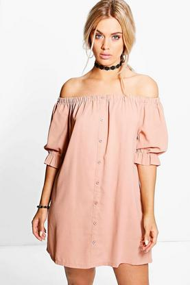 Plus Emmie Off The Shoulder Shift Dress