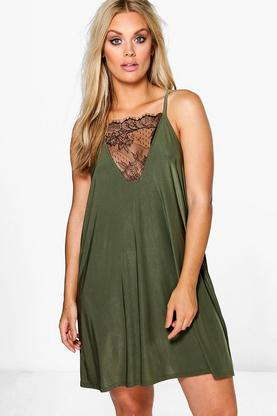 Plus Lily Lace Detail Swing Dress