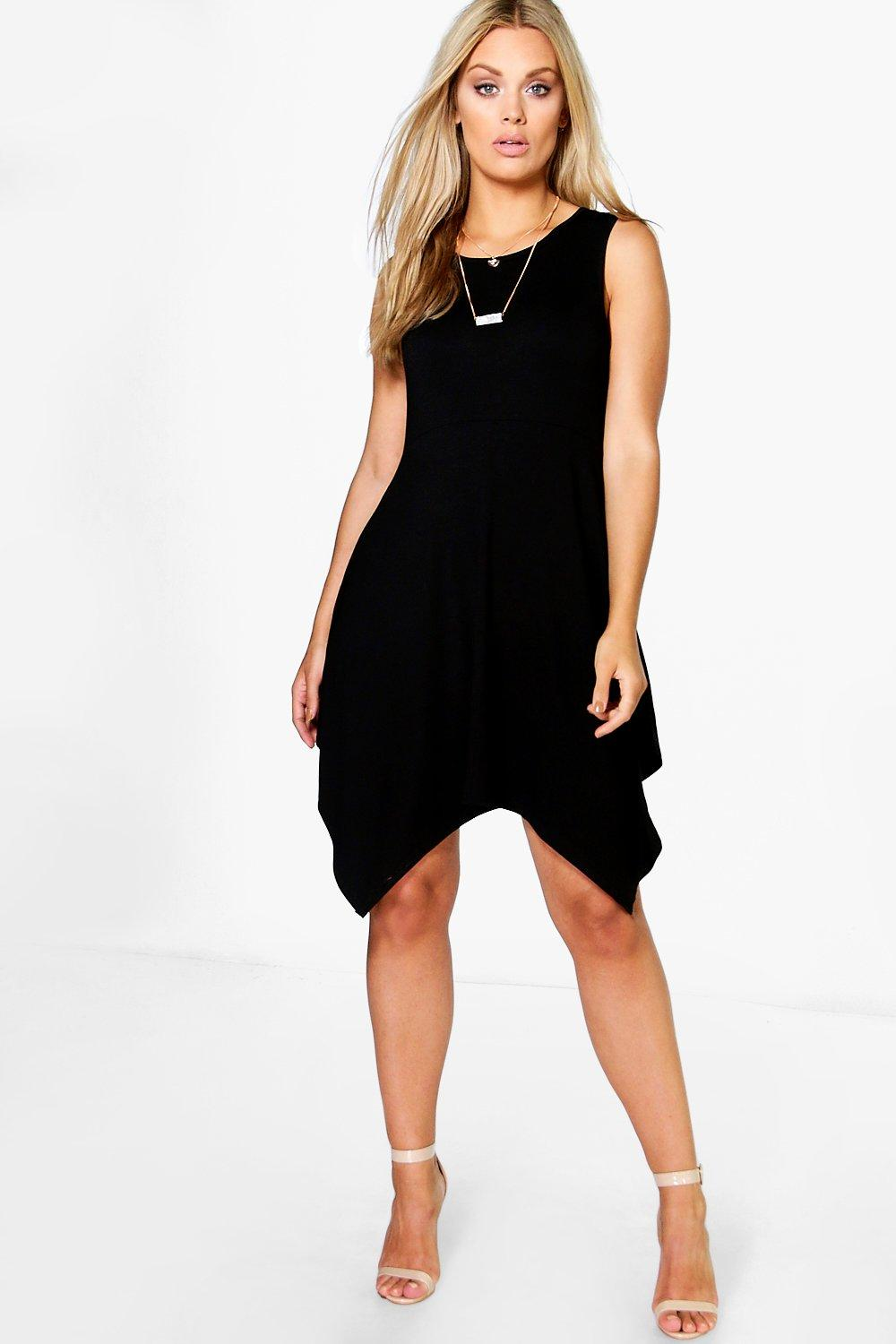Plus Tamzin Hanky Hem Skater Dress