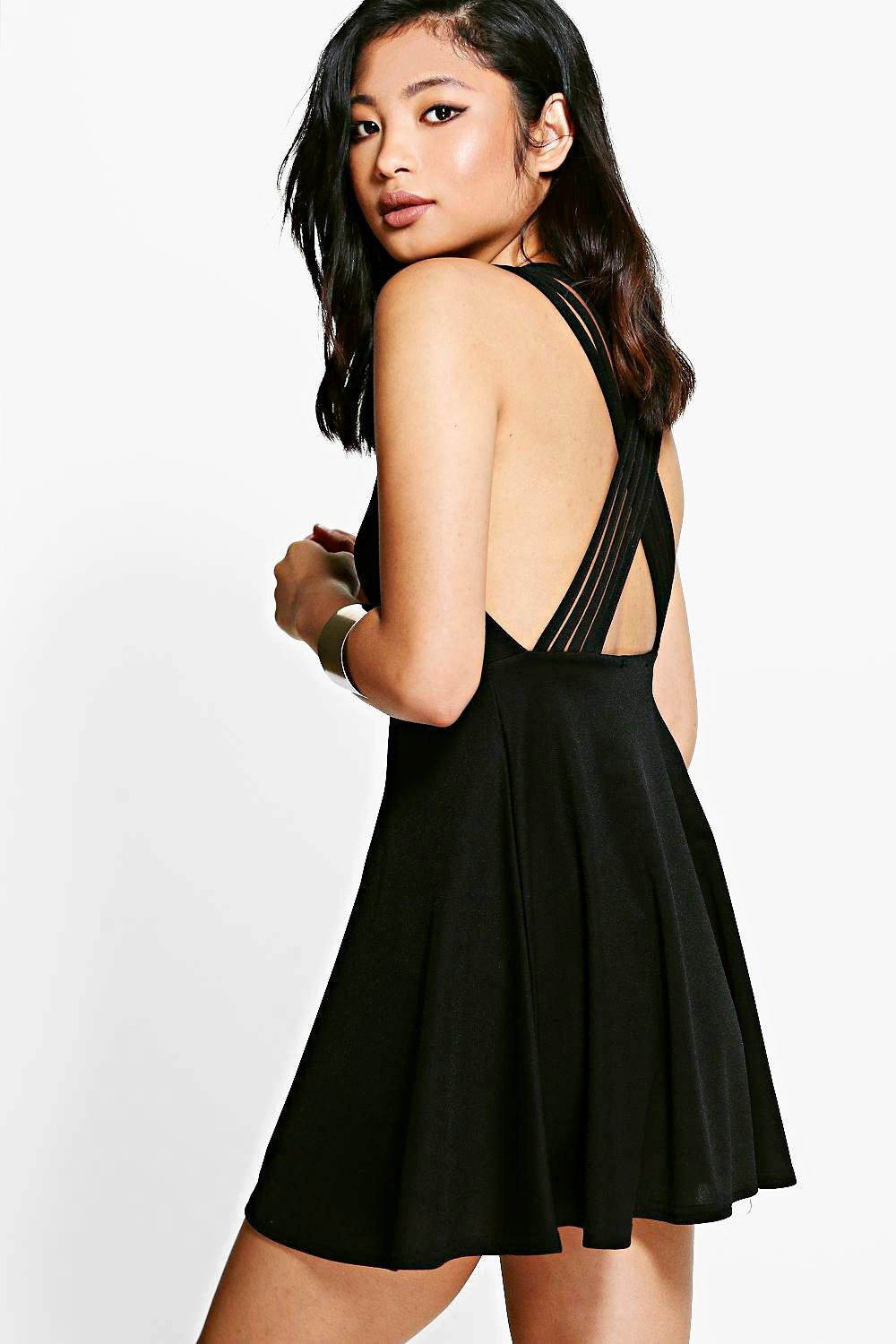 Petite Candice Strappy Back Skater Dress