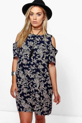 Plus Alivia Cold Shoulder Shift Dress