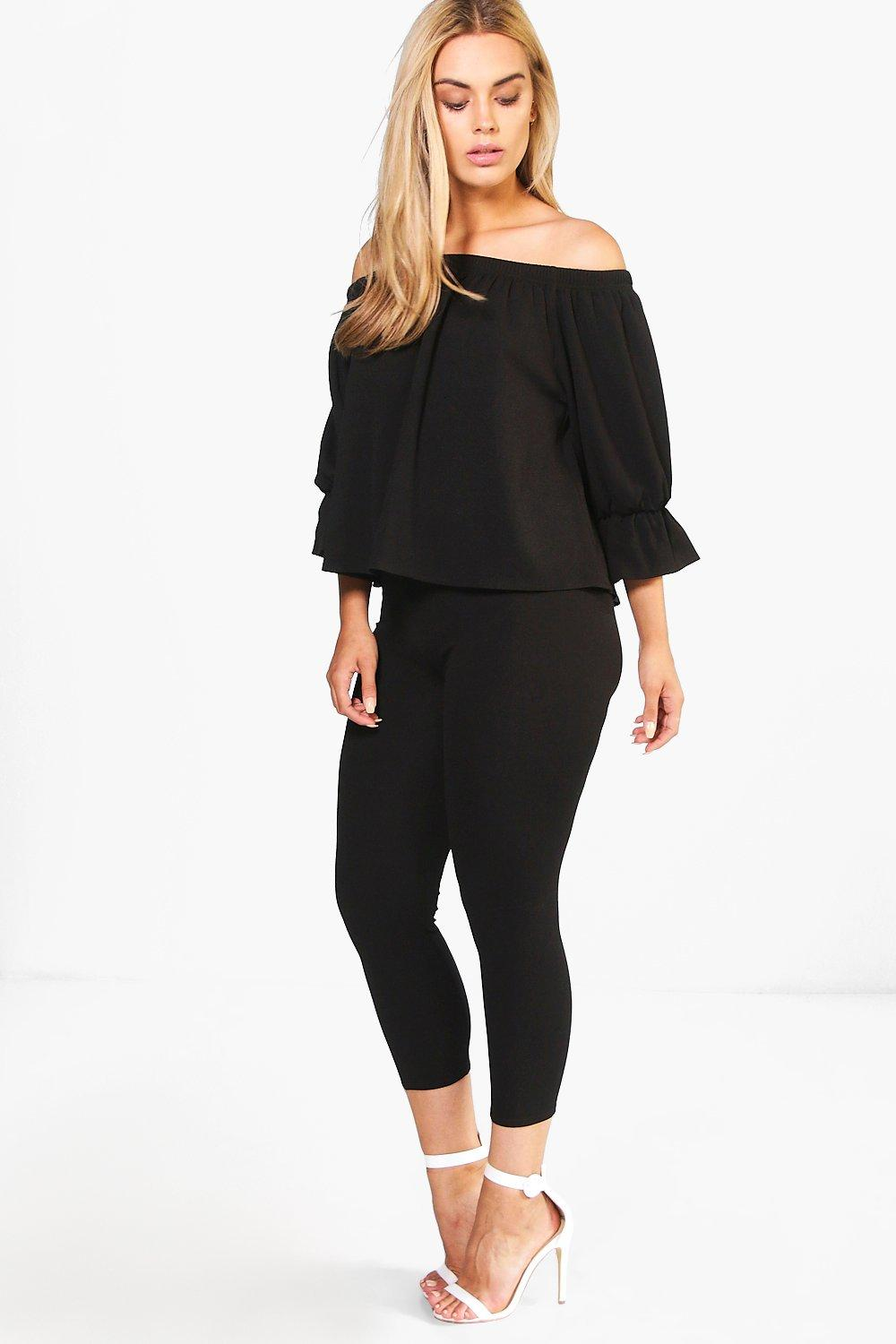 Plus Joslyn Frill Top + Trouser Co-ord