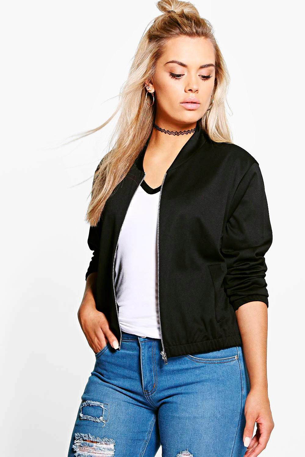 Plus Neve Jersey Bomber Jacket