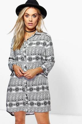 Plus Elda Paisley Shirt Dress