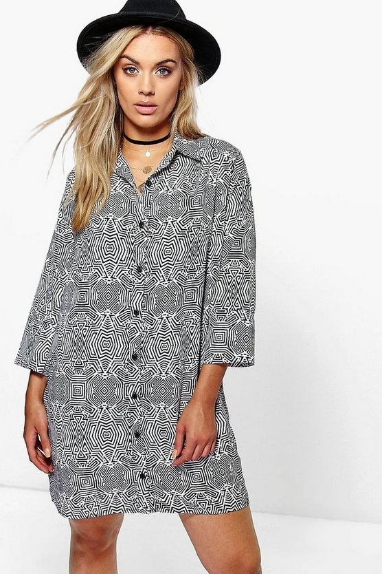 Plus Camilla Mono Shirt Dress