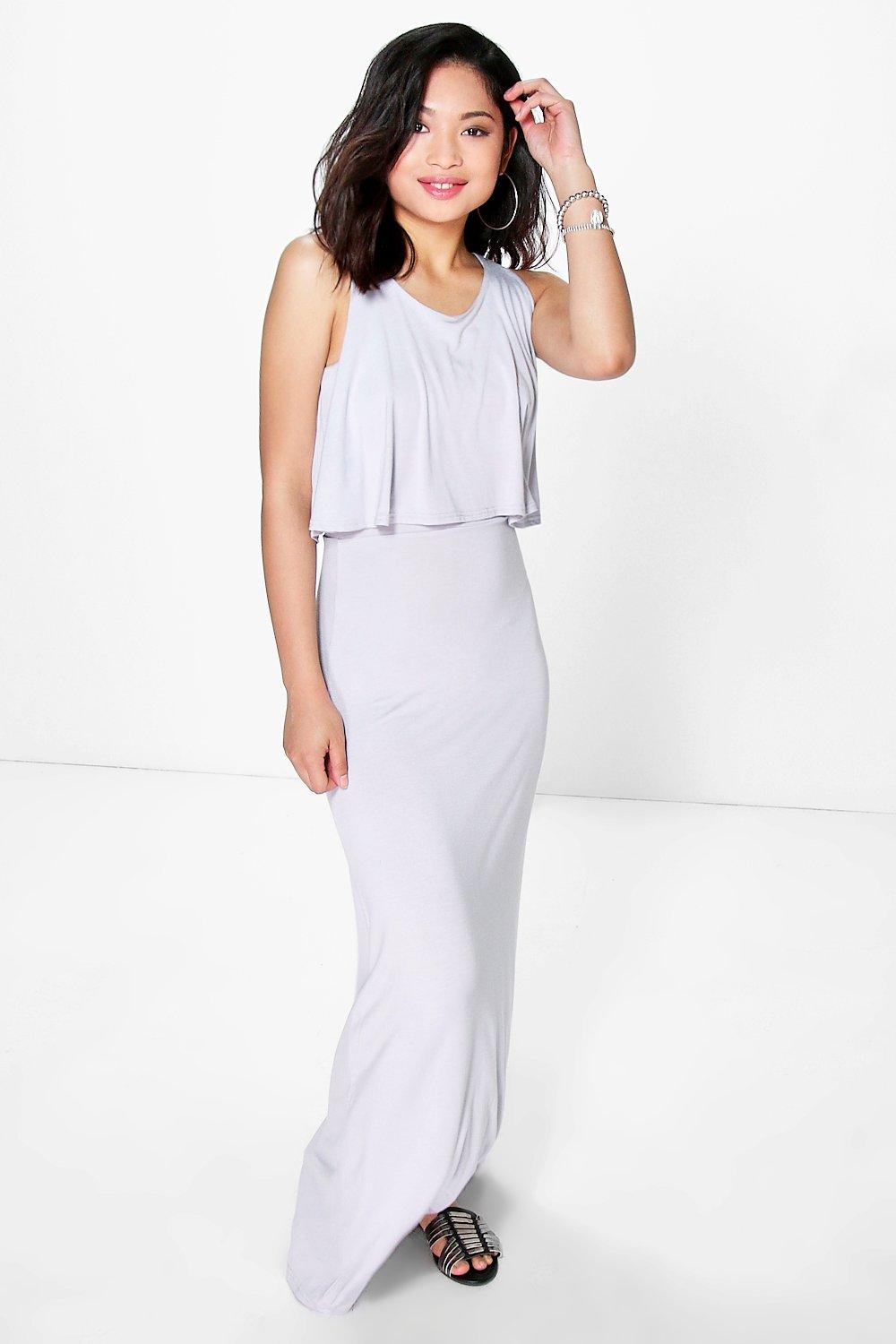 Petite Lorna Double Layer Maxi Dress