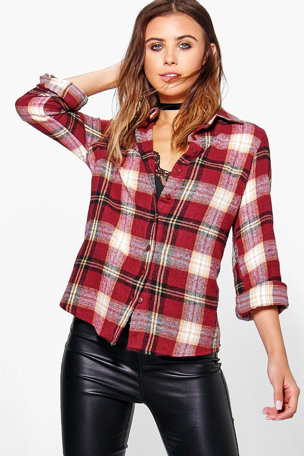 Petite Lucie Flannel Check Shirt