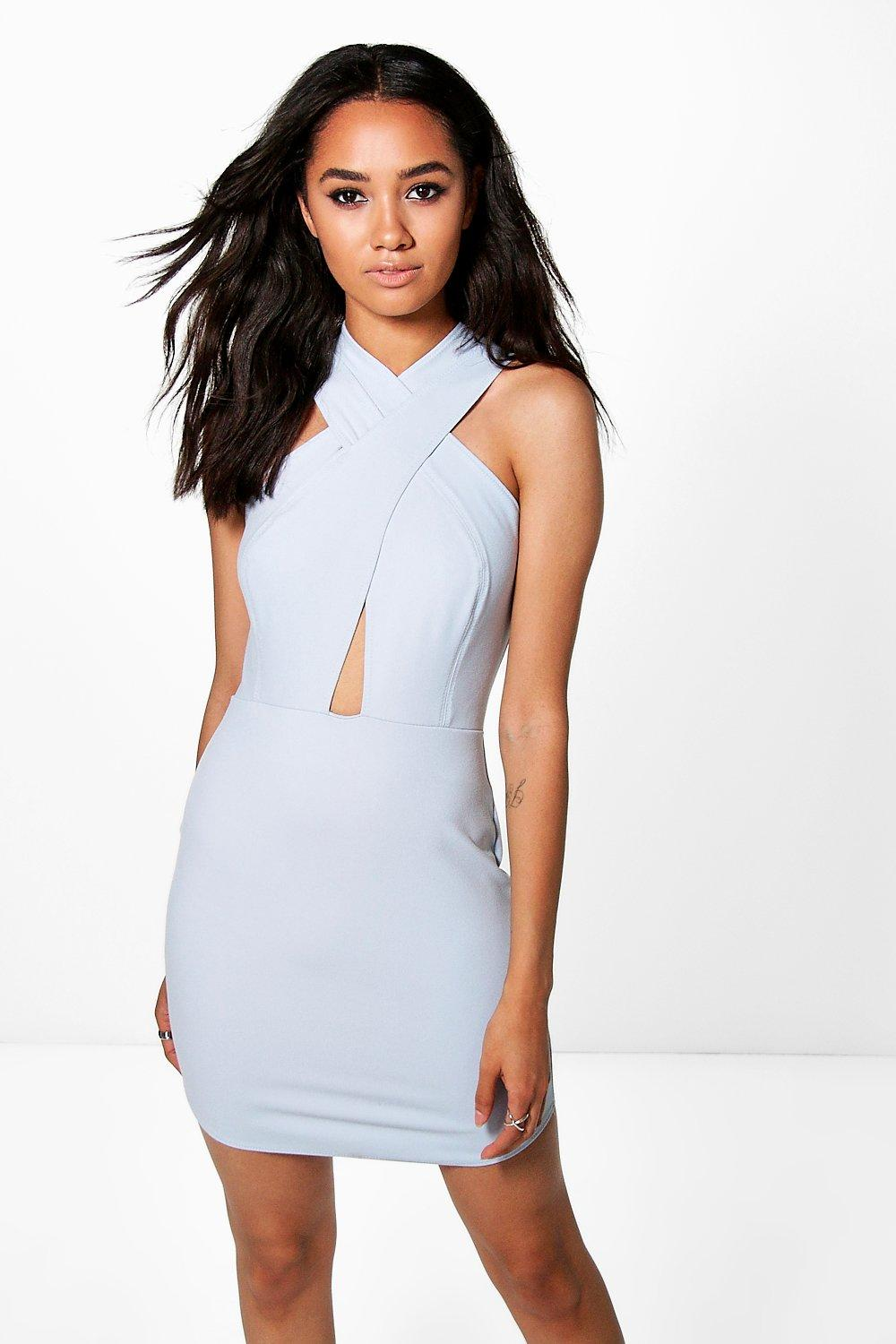 Petite Tabby Strappy Bodycon Dress