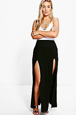 Plus Erika Split Front Maxi Skirt