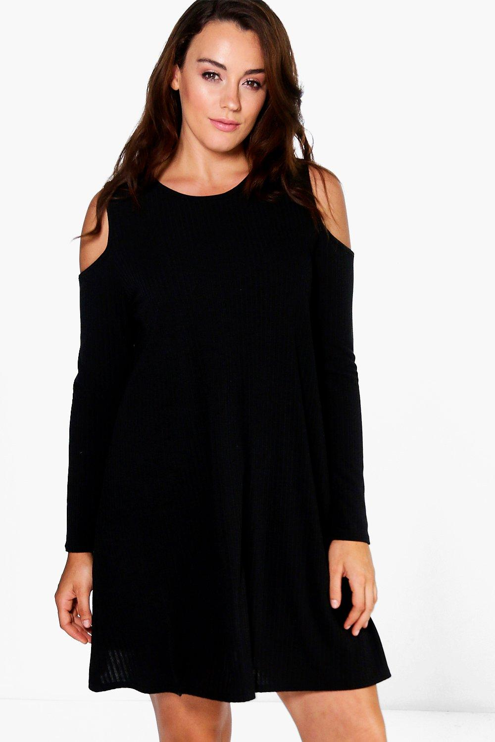 Plus Averie Open Shoulder Swing Dress