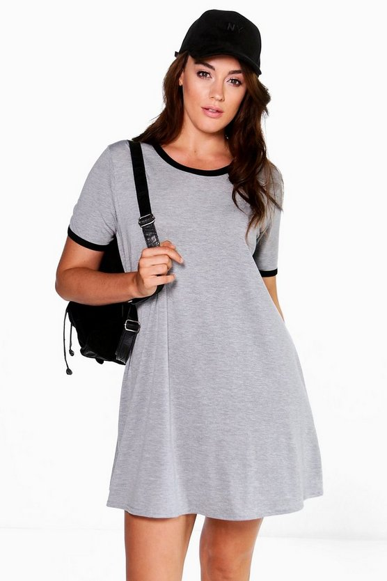 Plus Tilly Binding Swing Dress