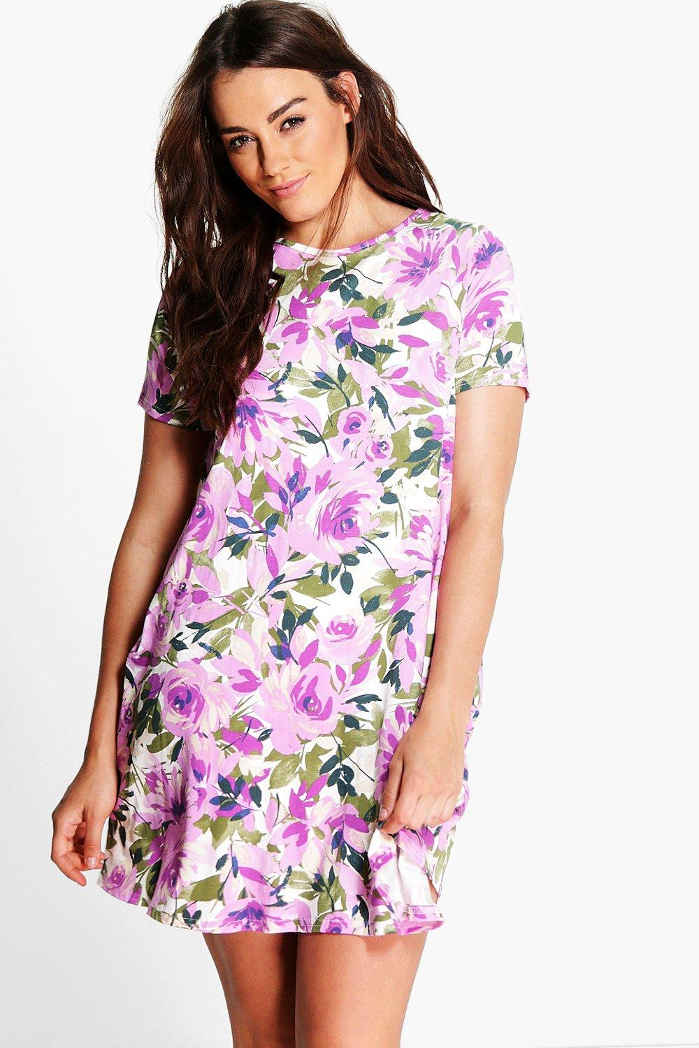 Plus Marlin Short Sleeve Swing Dress