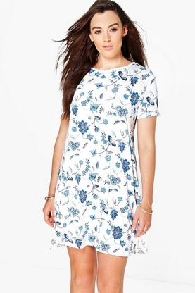 Plus Tori Short Sleeve Swing Dress